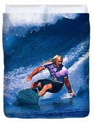 Surfer Dude Catching A Wave Duvet Cover