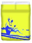 Surfer Girl 1940s Duvet Cover