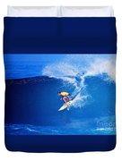 Surfer Mitch Crews Duvet Cover