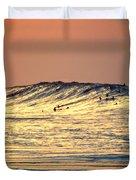 Surfers Gold Duvet Cover