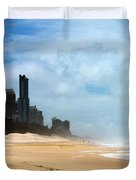 Surfers Paradise On A Stormy Day Duvet Cover