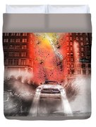 Surfing 5th Avenue Duvet Cover by Barry C Donovan