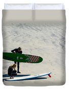 Surfing Couple Duvet Cover