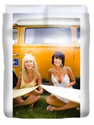 Surfing Holiday Duvet Cover
