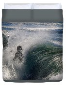 Surfing Into The Sun Duvet Cover