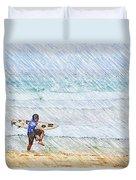 Surfer In Aus Duvet Cover