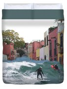 Surfing Quebrada Duvet Cover