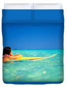 Surfing Serenity Duvet Cover by Dana Edmunds - Printscapes