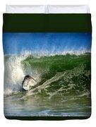 Surfing The Winter Atlantic Duvet Cover