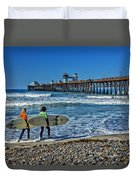Surfing Today Duvet Cover