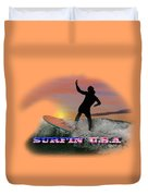 Surfing U.s.a. Duvet Cover