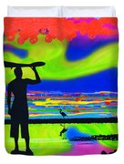 Surfscape Dreaming Duvet Cover