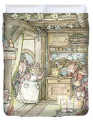 Surprise At Mayblossom Cottage Duvet Cover