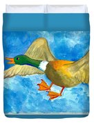 Surprised Flying Duck Detail Of Duck Meets Fairy Ballet Class Duvet Cover