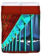 Surreal Bridge Shark Cage Duvet Cover