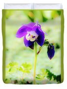Surreal Columbine Duvet Cover