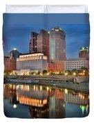 Surreal Columbus Ohio Duvet Cover