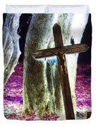 Surreal Crucifixion Duvet Cover by Karin Kohlmeier