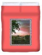 Surreal Desert Sunset Duvet Cover