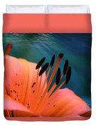 Surreal Orange Lily Duvet Cover