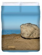 Surreal Rock At Point Loma Duvet Cover