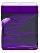 Surreal Surfing Purple Duvet Cover