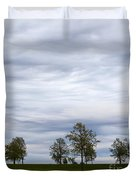 Surreal Trees And Cloudscape Duvet Cover