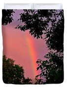 Surround The Rainbow Duvet Cover by Amanda Struz