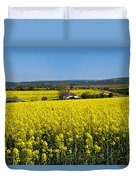Surrounded By Rapeseed Flowers Duvet Cover