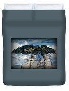 Surrounded By The Ocean - Jersey Shore Duvet Cover