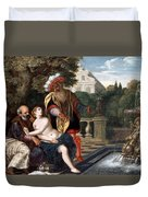 Susanna And The Elders Duvet Cover