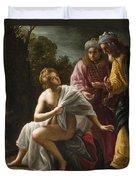 Susanna And The Elders Duvet Cover by Ottavio Mario Leoni