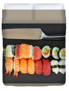 Sushi And Knife Duvet Cover