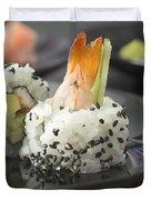 Sushi In Restaurant Duvet Cover