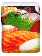 Sushi Plate 1 Duvet Cover