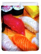 Sushi Plate 4 Duvet Cover