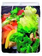 Sushi Plate 5 Duvet Cover