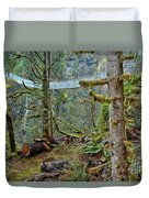 Suspended In The Rain Forest Duvet Cover