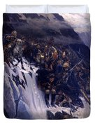Suvorov Crossing The Alps In 1799 Duvet Cover