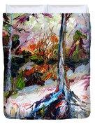Suwanee River Black Waters Modern Art Duvet Cover