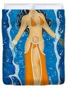 Svadhishthana Sacral Chakra Goddess Duvet Cover