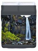 Svartifoss Waterfall - Iceland Duvet Cover