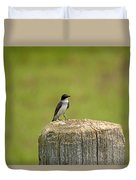 Swallow On A Stump Duvet Cover