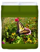 Swallow Tail Butterfly Enjoying The Sunshine Duvet Cover
