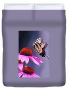 Swallowtail And Coneflower Duvet Cover