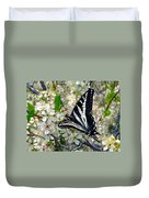 Swallowtail And Plum Blossoms Duvet Cover