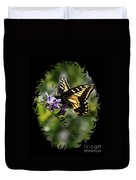 Swallowtail Butterfly 1 With Swirly Frame Duvet Cover
