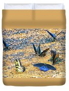 Swallowtail Butterfly Convention Duvet Cover