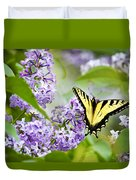 Swallowtail Butterfly On Lilacs Duvet Cover