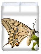 Swallowtail Butterfly Vector Isolated Duvet Cover